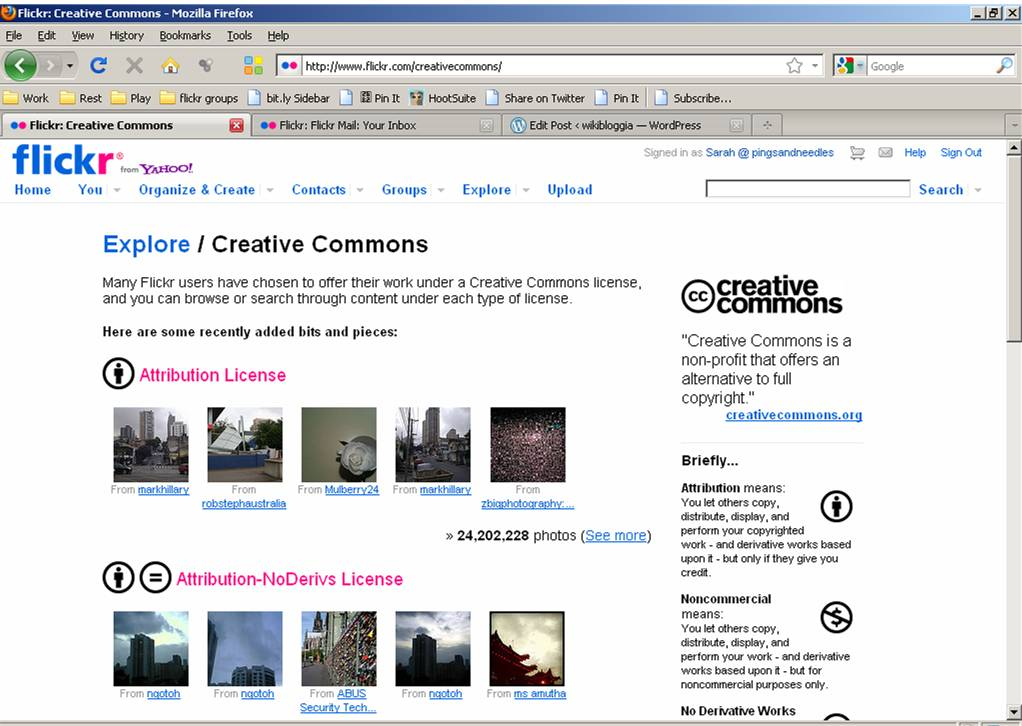 flickr creative commons screenshot